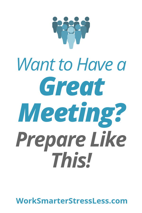 how to prepare for meetings