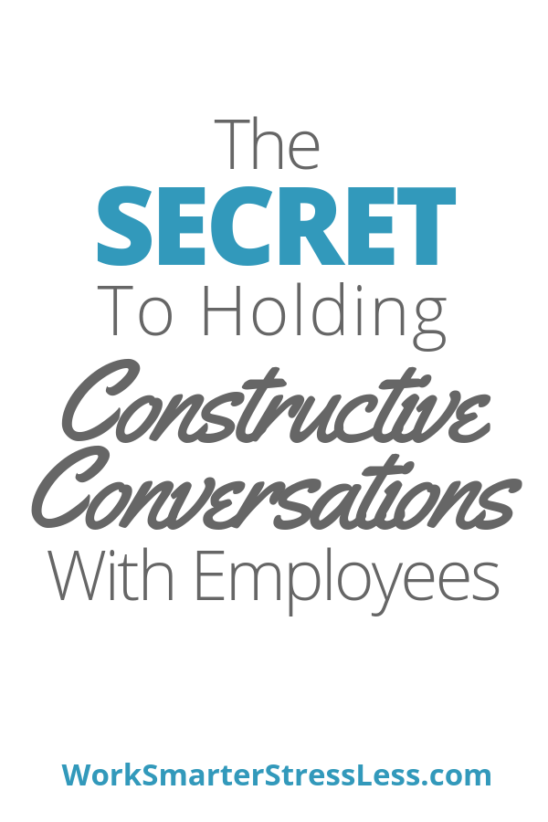 Secret to holding conversations with employees
