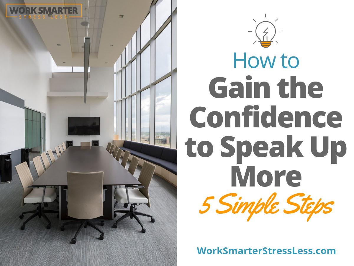 confidence to speak up in meetings