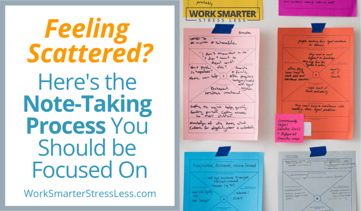 Feeling scattered here is the note taking process you should focus on